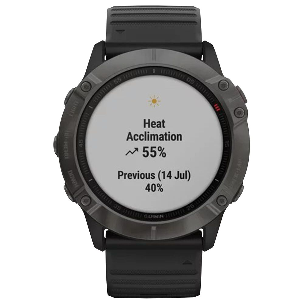 Garmin 51mm Fenix 6X Multisport GPS Smartwatch in Gray and Black, , large
