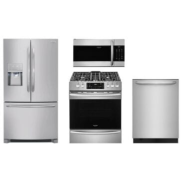 Frigidaire Gallery 4-Piece Kitchen Package with Slide-In Gas Range - Stainless Steel , , large