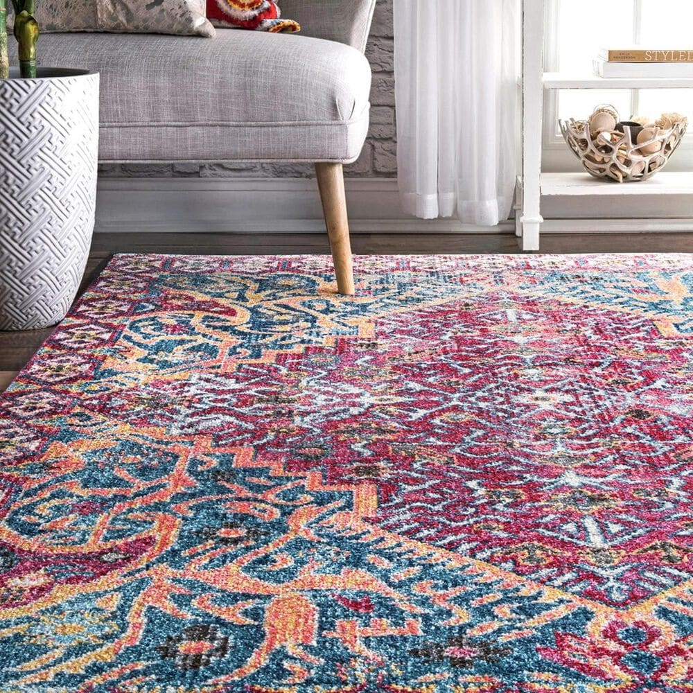 nuLOOM Valley MUVL02A 5' x 8' Red Area Rug, , large