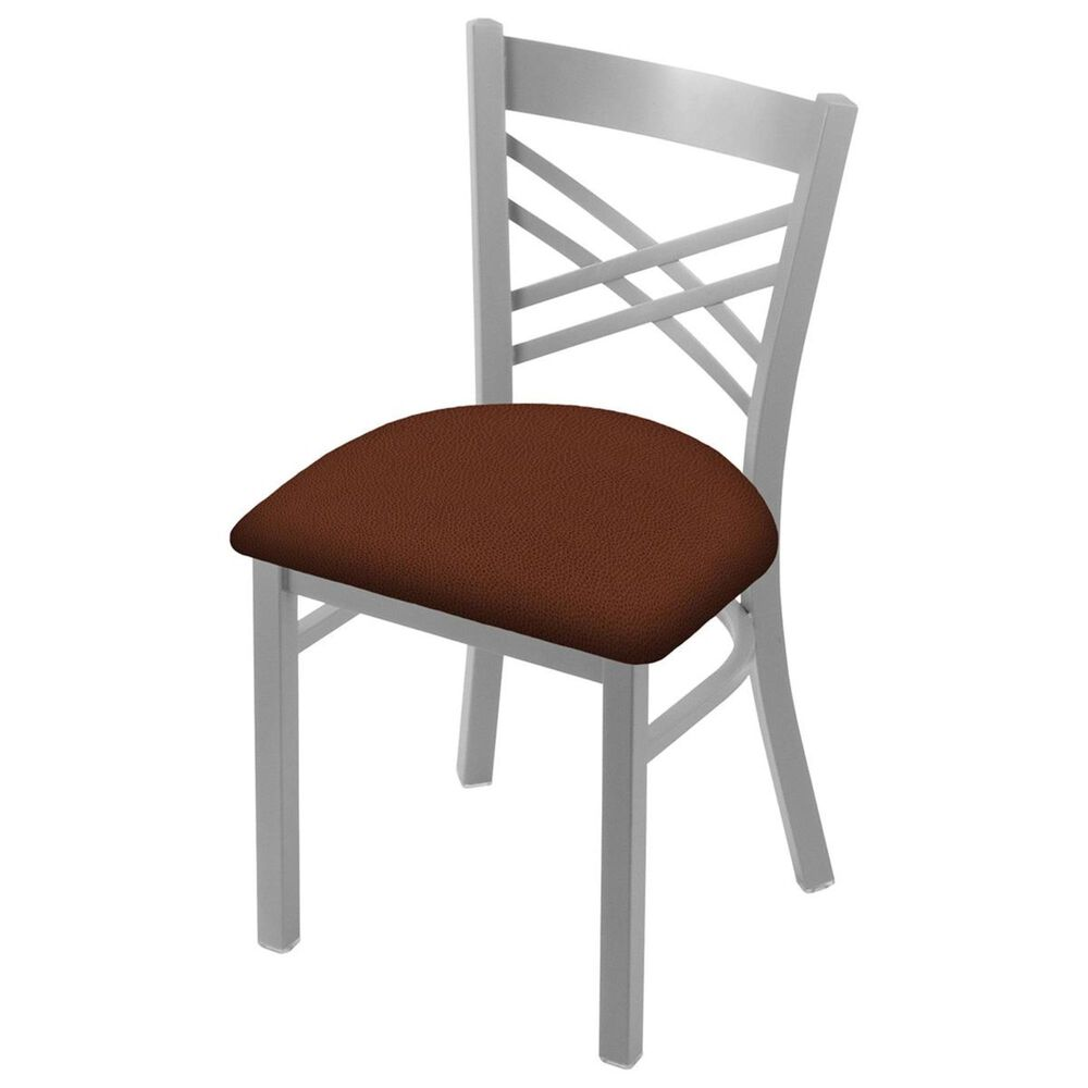 """Holland Bar Stool 620 Catalina 18"""" Chair with Anodized Nickel and Rein Adobe Seat, , large"""
