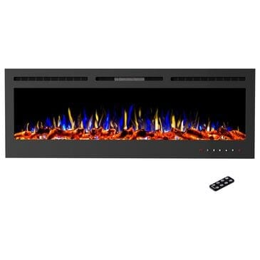"""Timberlake Hastings Home 72"""" Electric Fireplace Wall Mount in Black, , large"""