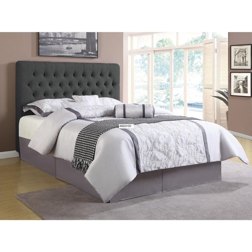 Pacific Landing Chloe King Upholstered Bed in Charcoal, , large