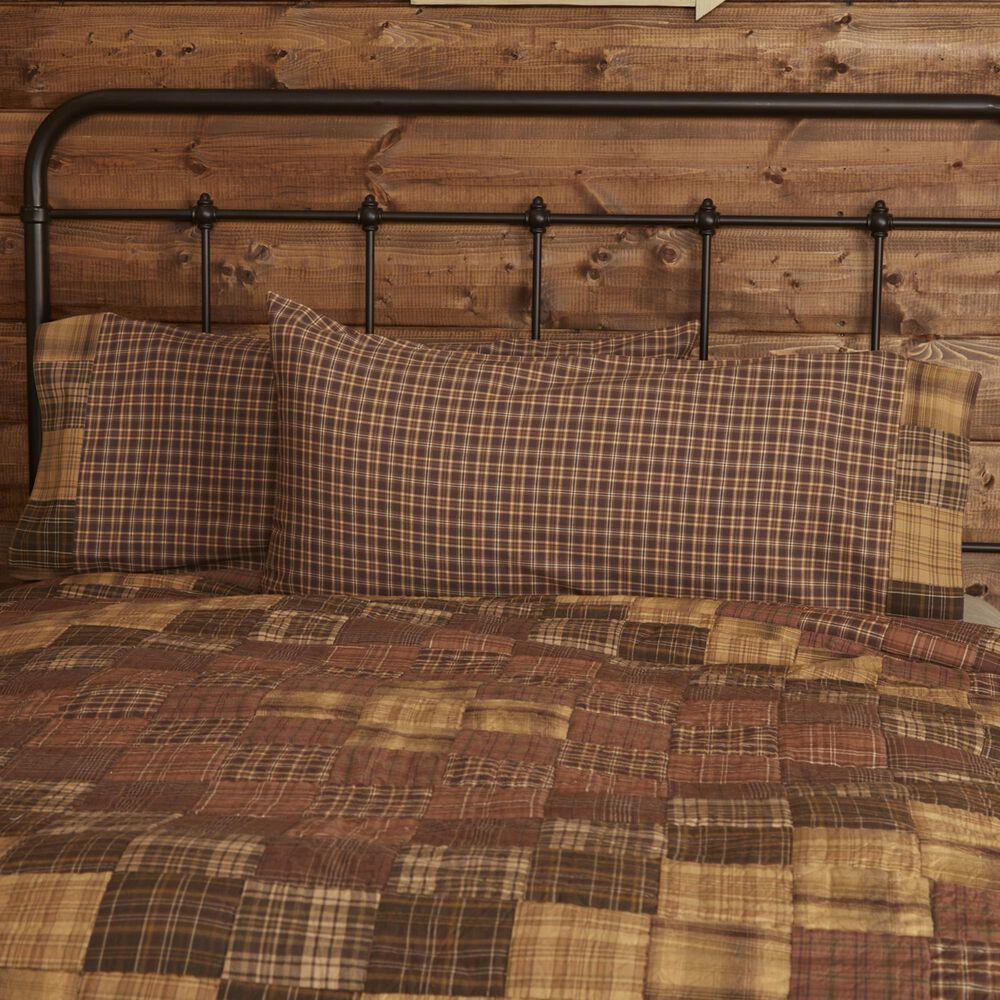VHC Prescott Rustic King Pillow Case Set in Russet, , large