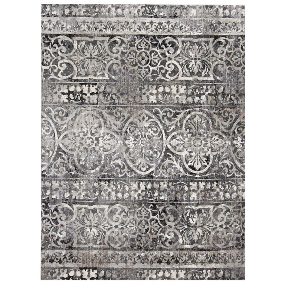 """Feizy Rugs Kano 3871F 7""""10"""" x 11"""" Charcoal and Ivory Area Rug, , large"""