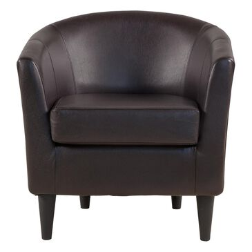 Overman International Corp Windsor Accent Chair in Rodeo Dark Brown, , large