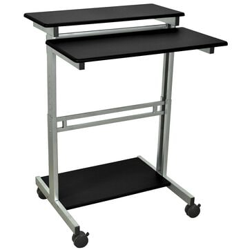 Luxor Stand Up Workstation in Siver/Black, , large
