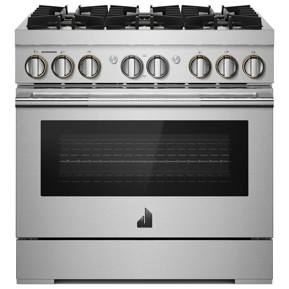 """Jenn-Air Rise 36"""" Dual-Fuel Professional Range in Stainless Steel, , large"""