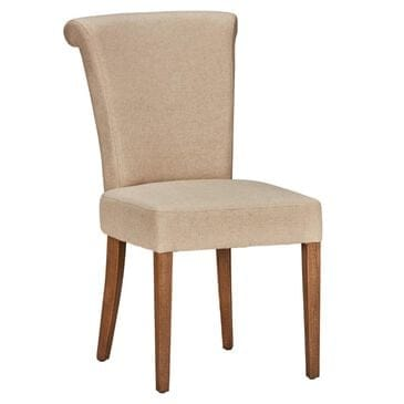 Greenbrier Interiors Donna Mia Side Chair in Warm Brown With Silver Ring Accent, , large