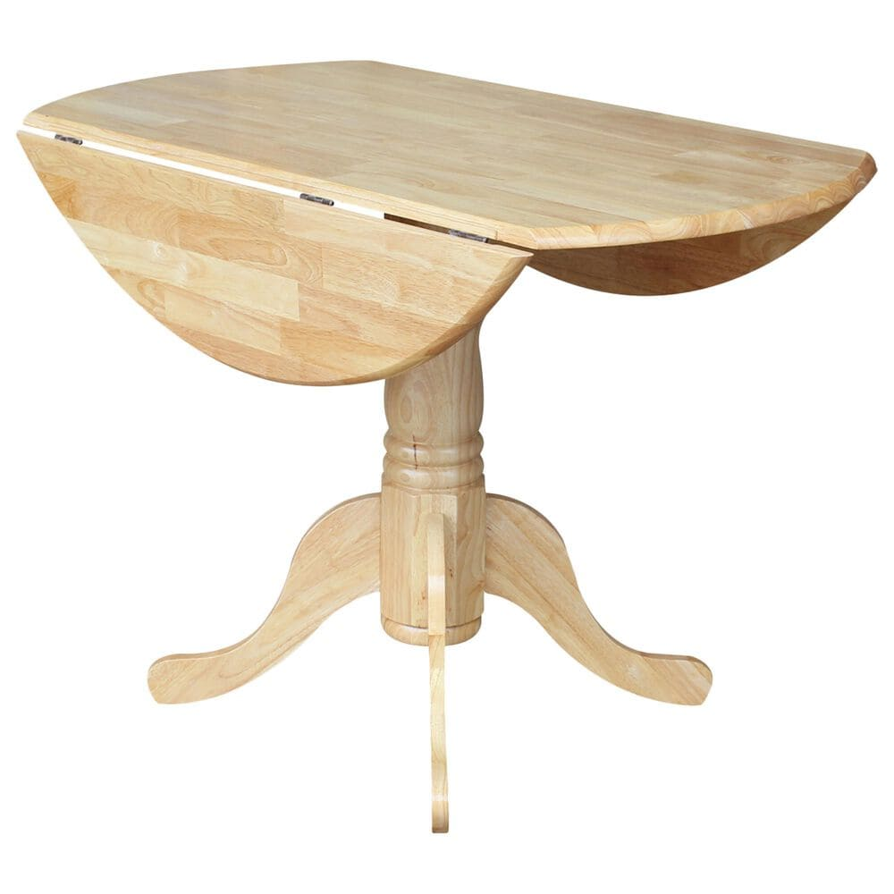 """International Concepts 42"""" Modern Farmhouse Pedestal Table in Natural, , large"""