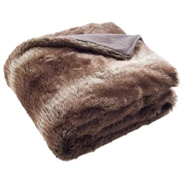 Safavieh Faux Luxe Queen Throw in Chocolate, , large