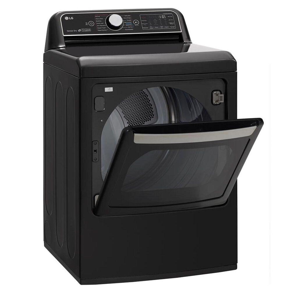 LG 7.3 Cu. Ft. Electric Dryer in Black Steel, , large