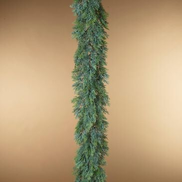 The Gerson Company 6' Cedar & Berry Garland in Green, , large
