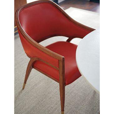 Lexington Furniture Palm Desert Jameson Arm Chair with Orange Cushion in Sierra Tan, , large