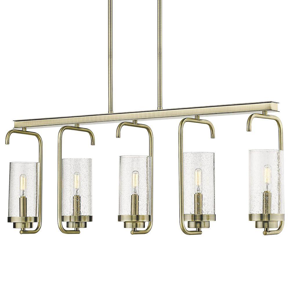 Golden Lighting Holden 5-Light Linear Pendant in Aged Brass, , large