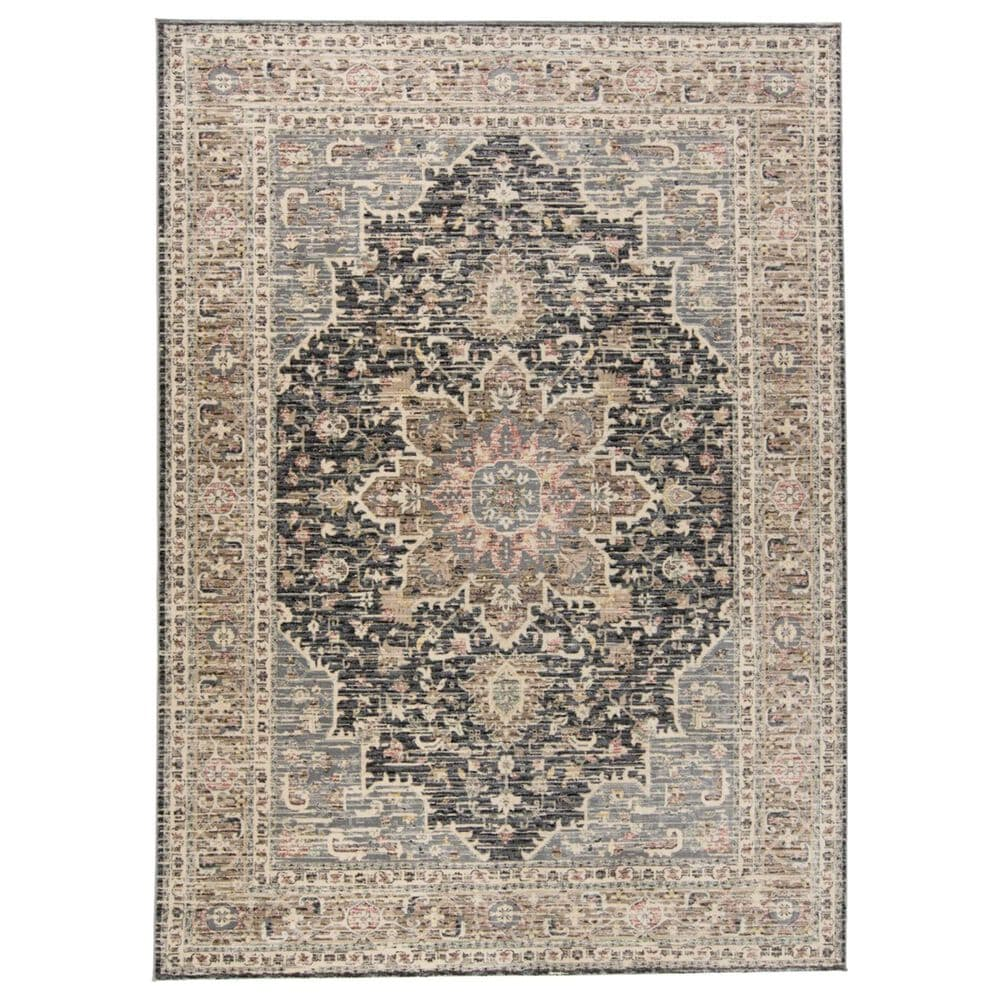 """Feizy Rugs Grayson 3578F 4""""11"""" x 7""""8"""" Gray and Charcoal Area Rug, , large"""