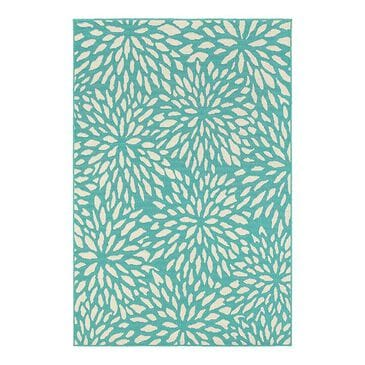 "Oriental Weavers Meridian 1506L 3'7"" x 5'6"" Blue Area Rug, , large"