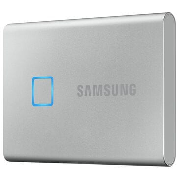 Samsung 500GB T7 Touch Portable SSD in Silver, , large