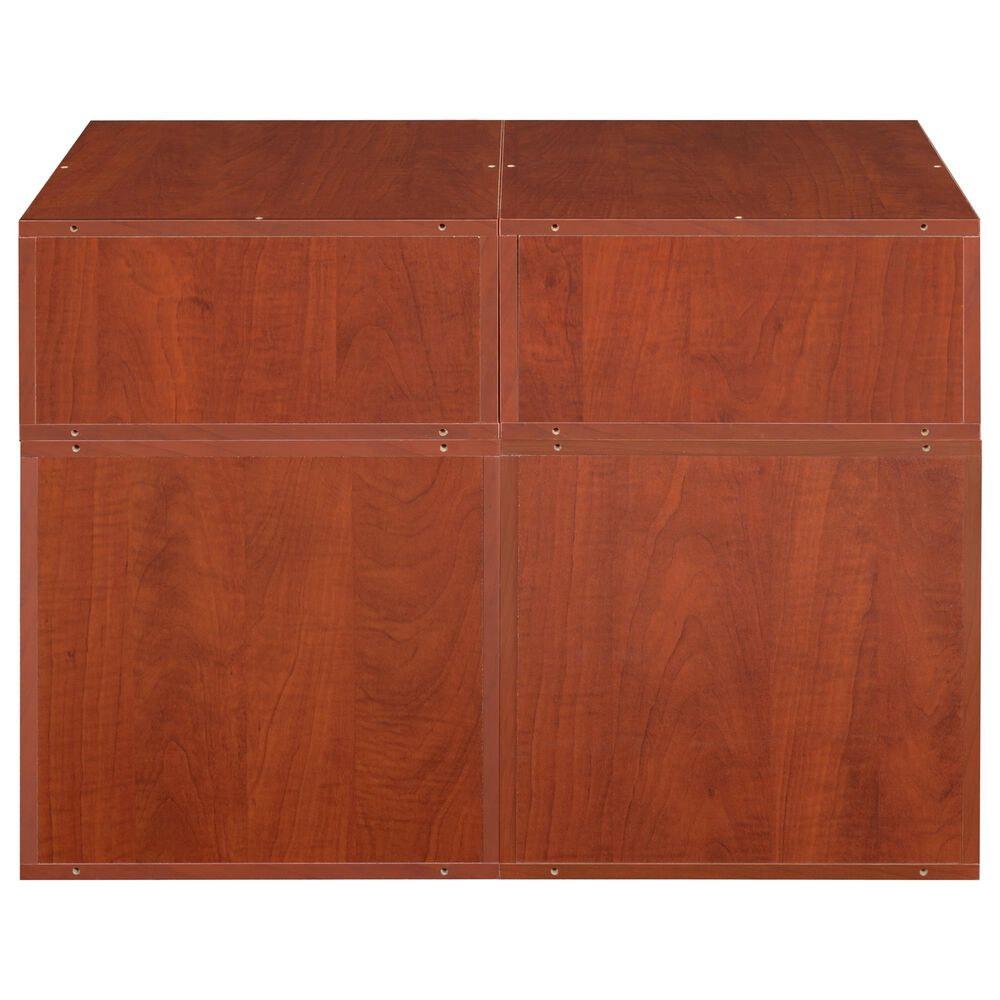 Regency Global Sourcing Niche Cubo 4-Piece Storage Set with Half Drawers in Cherry/White, , large