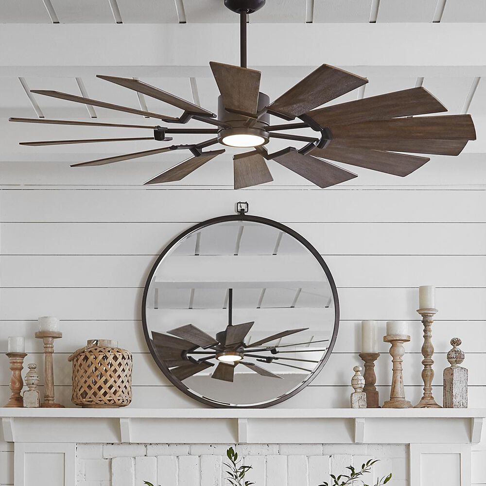 Monte Carlo Fans Prairie 14 Bladed Ceiling Fan in Aged Pewter, , large