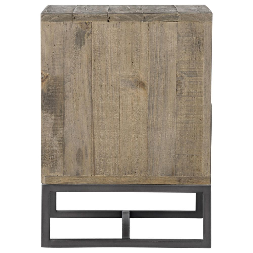 Moe's Home Collection Elena 2 Drawer Nightstand in Brown, , large