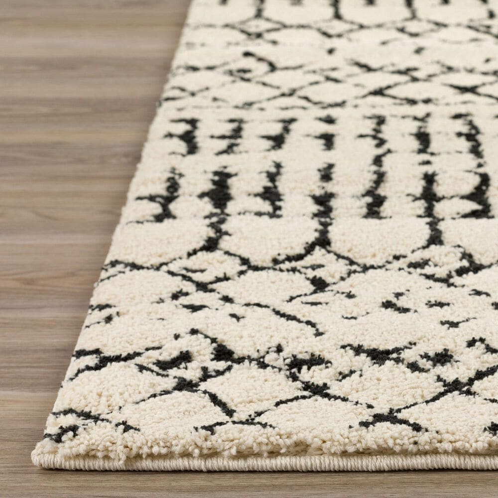 "Dalyn Rug Company Marquee MQ2 2'3"" x 7'5"" Ivory and Midnight Runner, , large"