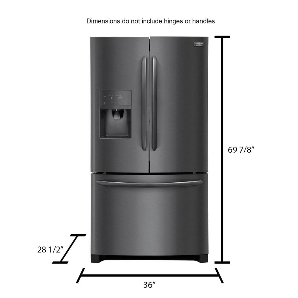 Frigidaire 21.9 cu. ft. Counter-Depth French Door Refrigerator in Black Stainless Steel, , large