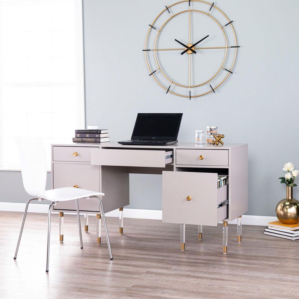 Southern Enterprises Helston Writing Desk in Matte Gray, , large