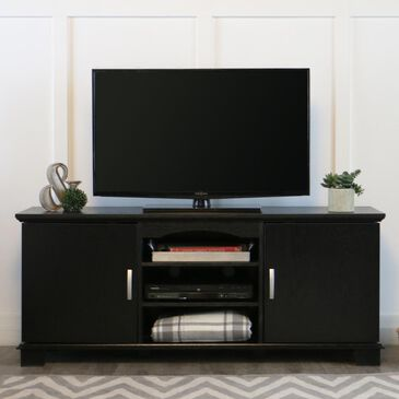 """Walker Edison 60"""" TV Stand with Media Storage in Black, , large"""