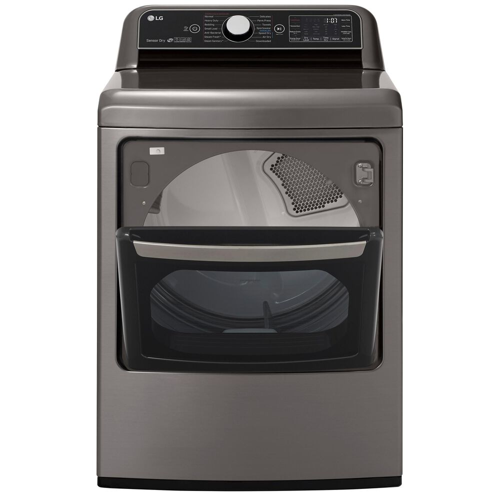 LG 7.3 cu.ft. Smart wi-fi Enabled Electric Dryer with TurboSteam in Graphite Steel, , large