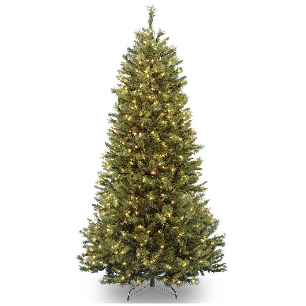 "National Tree 7.5"" Rocky Ridge Slim Pine Hinged Tree with 600 White Lights, , large"