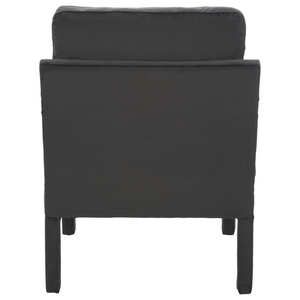 Safavieh Genoa Arm Chair in Black Velvet, , large