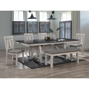 Claremont Maribelle Dining Table in Espresso and White, , large