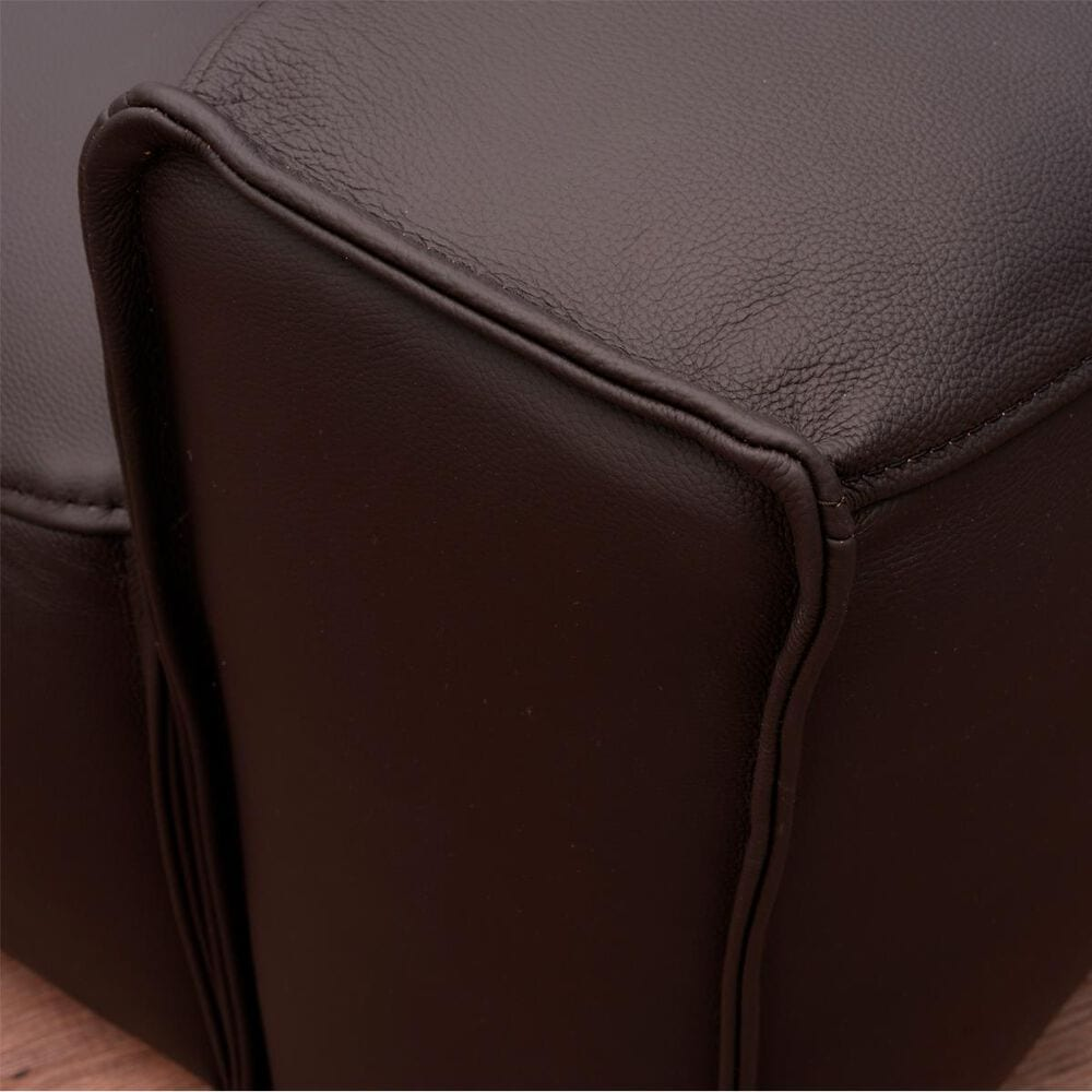 Devon and Claire Giovanni Leather Armchair in Dark Brown, , large