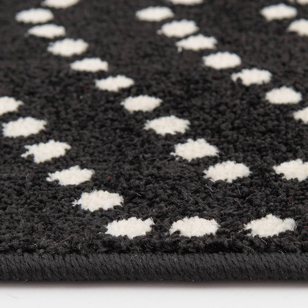 """Central Oriental Terrace Tropic Valeria 7'10"""" x 9'10"""" Onyx and Snow Area Rug, , large"""