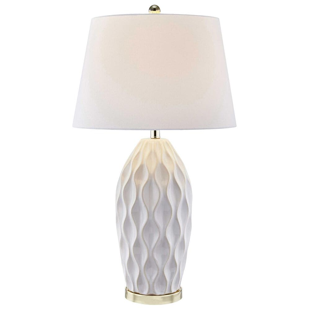 """Sagebrook Home 32"""" Table Lamp in Ivory, , large"""