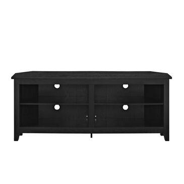 "Walker Edison 58"" Wood Corner TV Console - Black, , large"