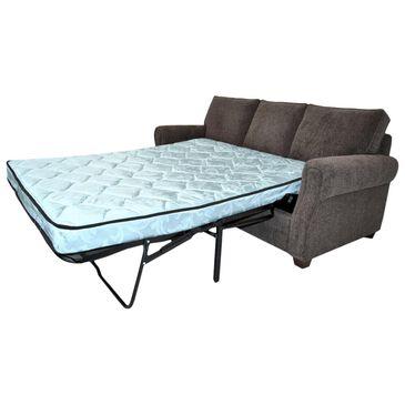 """La Crosse Frisco Queen Sleeper Sofa with 5"""" Memory Foam Mattress in Walnut, , large"""