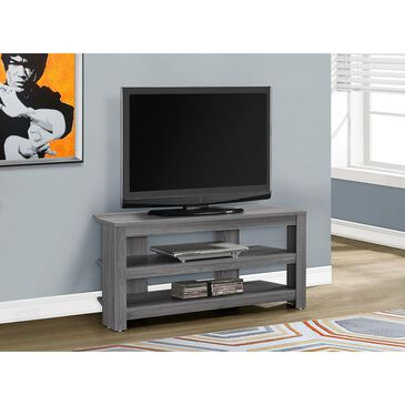 Monarch Specialties Corner TV Stand in Grey, , large