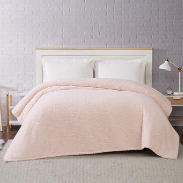 Pem America Brooklyn Loom Marshmallow Full/Queen Blanket in Blush, , large