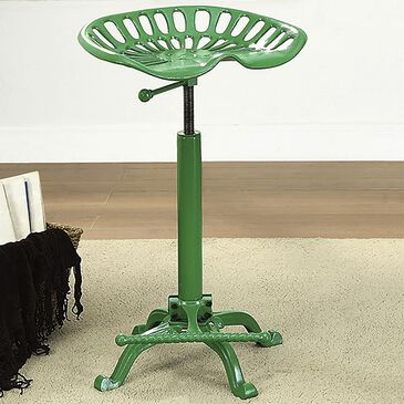 Carolina Cottage Adjustable Tractor Stool in Green, , large