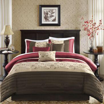 Hampton Park Serene 7-Piece Queen Comforter Set in Red, , large