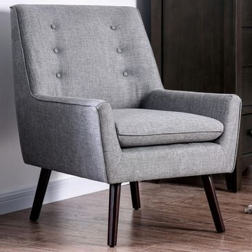 Furniture of America Salinger Accent Chair in Gray, , large