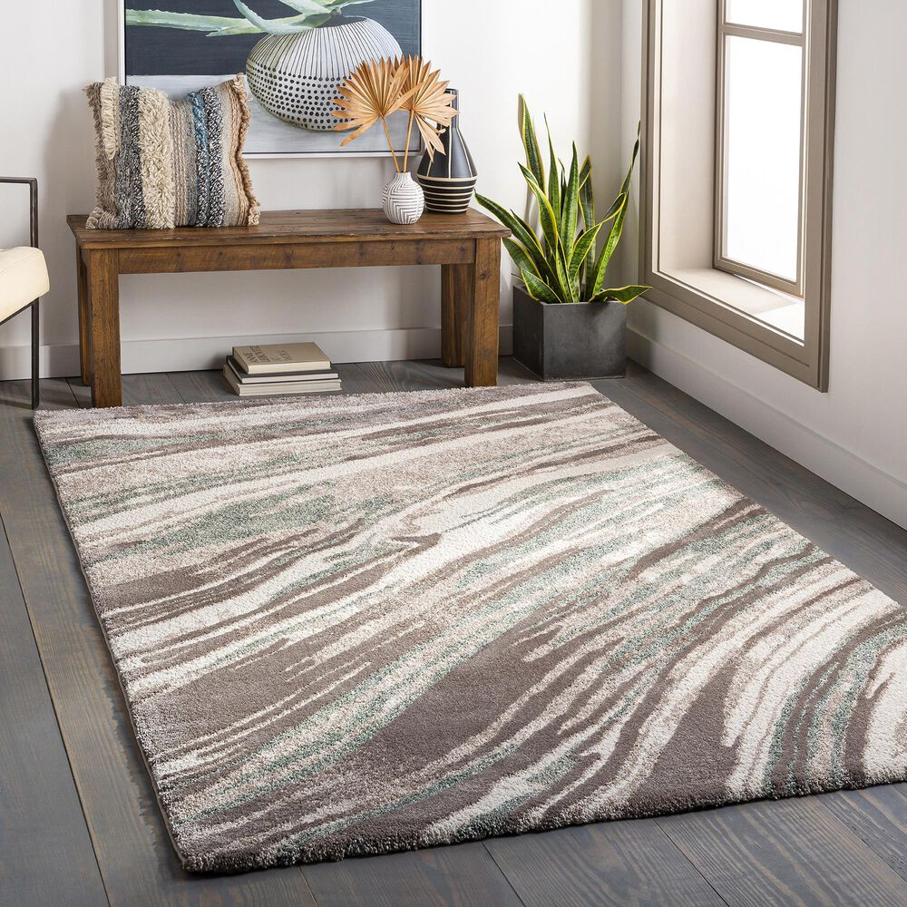 """Surya Cielo 6'6"""" x 9'5"""" Sage, White, Beige and Camel Area Rug, , large"""