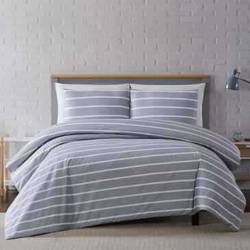 Pem America Truly Soft Maddow 3-Piece Full/Queen Duvet Set in Grey, , large
