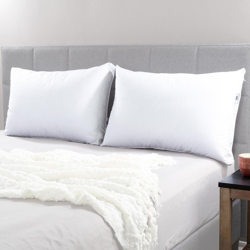 Timberlake Lavish Home Queen Luxury Pillows in White/Gray (Set of 2), , large
