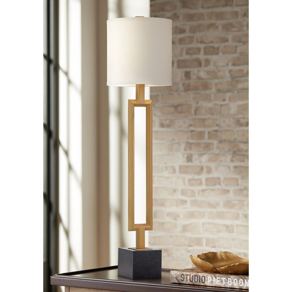 Pacific Coast Lighting Villa Grove Table Lamp in Warm Antique Brass, , large