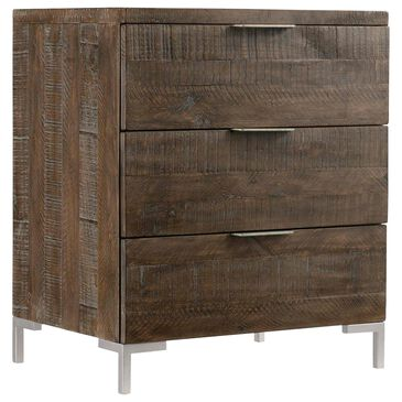 Bernhardt Logan Square 3 Drawer Nightstand in Sable Brown and Gray Mist, , large