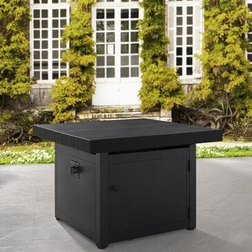"Plank and Hide 34"" Fire Pit with Sliding Top in Gray and Black, , large"
