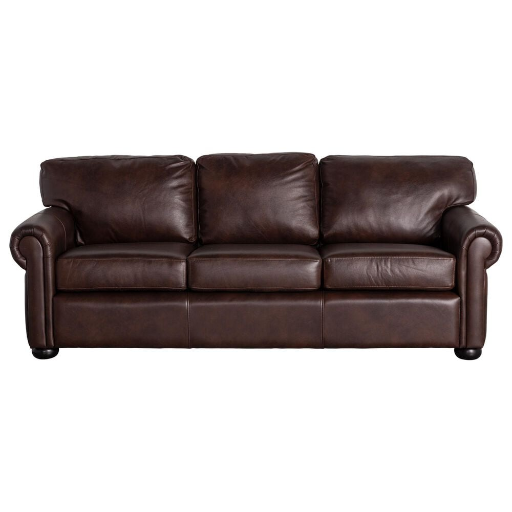 Vintage Leather Leather Sofa in Anfield Dark Brown, , large