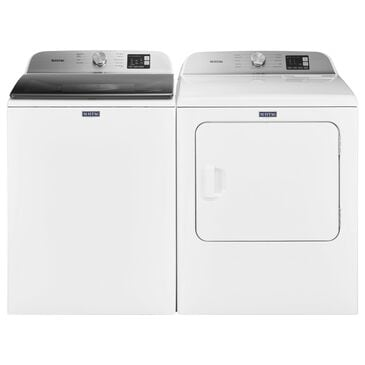Maytag 4.8 Cu. Ft. Top Load Washer and 7.0 Cu. Ft. Top Load Electric Dryer Laundry Pair in White, , large